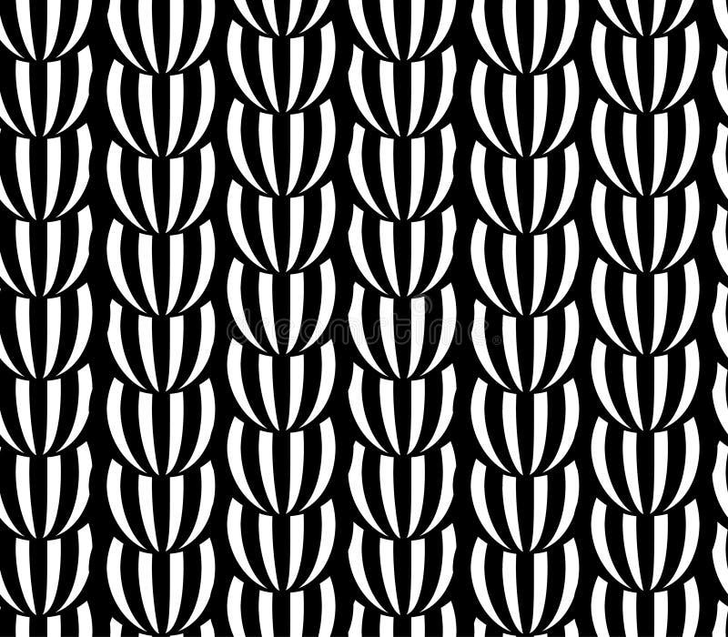 прикрепленная конспектом черная белизна картины архива eps Картина striped вектором иллюстрация вектора