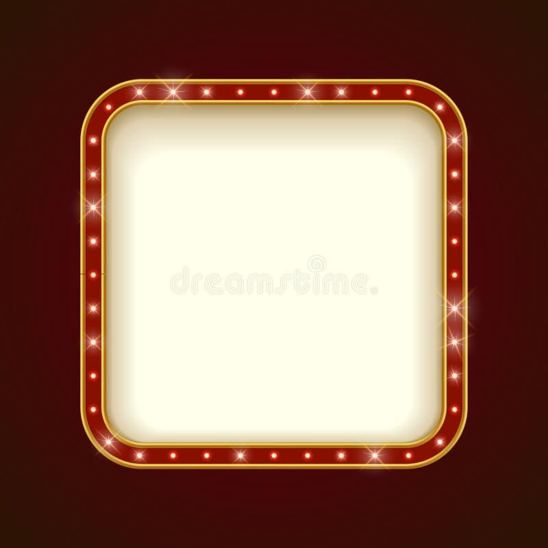 Прикройте загоренную округленную квадратную рамку шатёр бесплатная иллюстрация