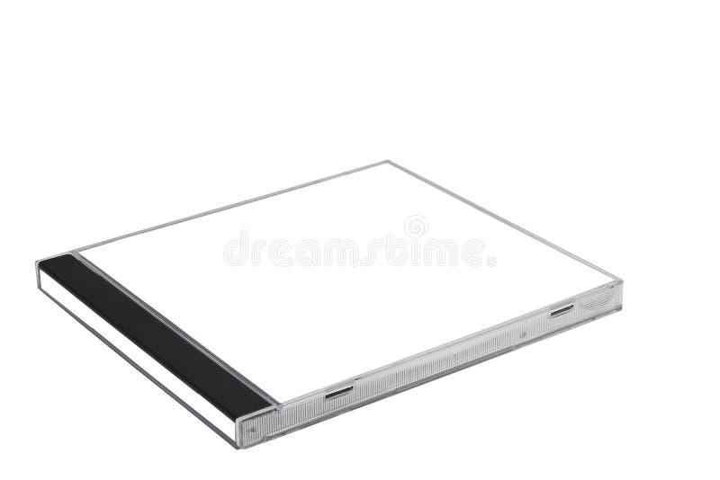 прикройте изолированный компактный диск случая стоковые фотографии rf
