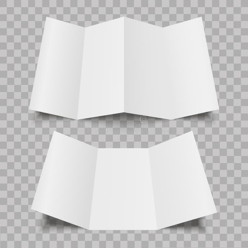 Прикройте 4 и 3 сложенная листовка бумаги створки, рогулька, плакат также вектор иллюстрации притяжки corel бесплатная иллюстрация