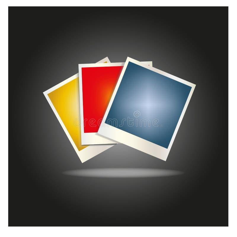 Прикройте рамки покрашенного фото положенные вне в вентилятор бесплатная иллюстрация