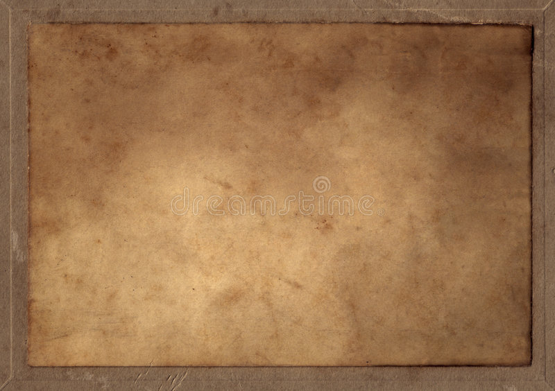 прикрынный старый прямоугольник пергамента стоковые фотографии rf
