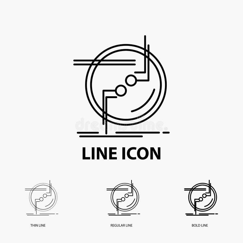 прикуйте, соединитесь, соединение, связь, значок провода в тонкой, регулярной и смелой линии стиле r бесплатная иллюстрация