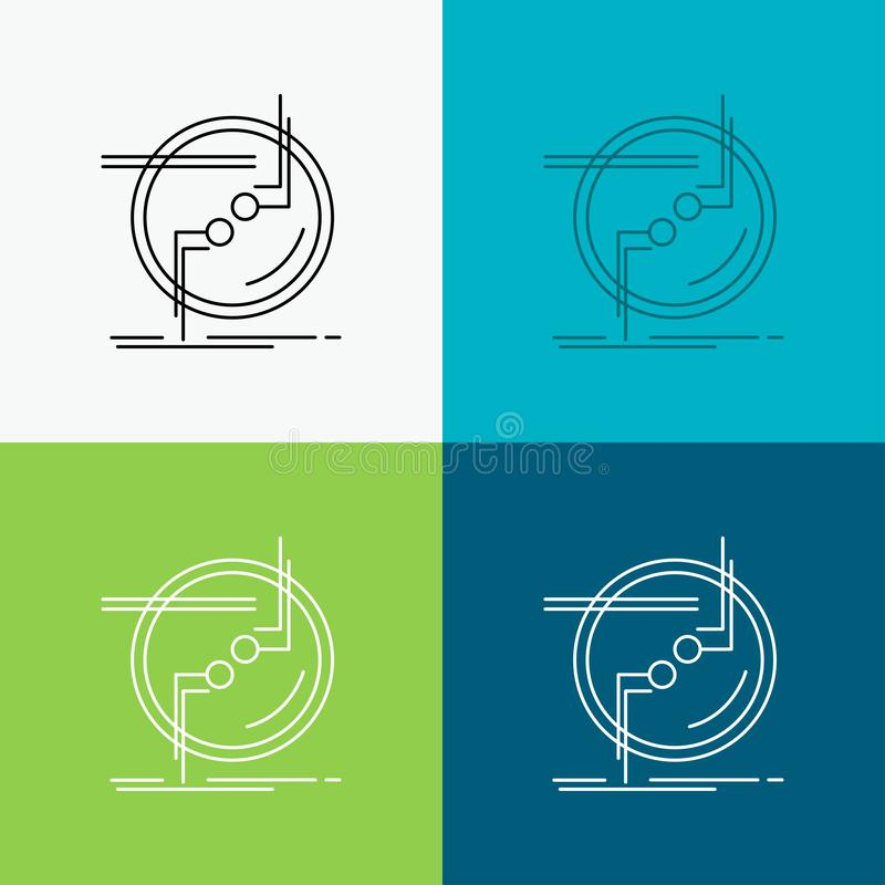 прикуйте, соединитесь, соединение, связь, значок провода над различной предпосылкой r r иллюстрация вектора