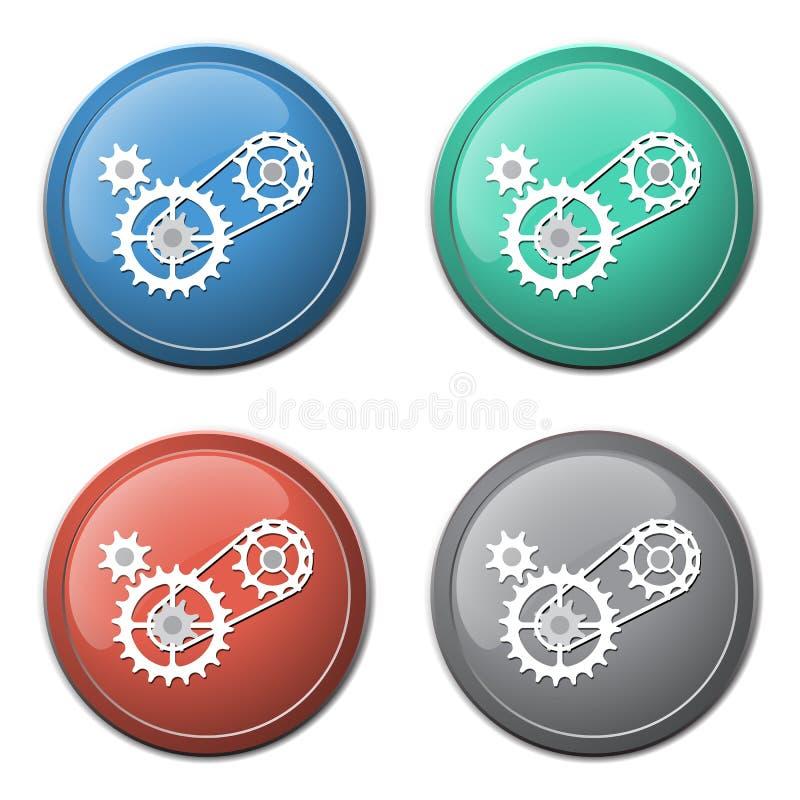 Прикуйте с значком cogwheels иллюстрация вектора