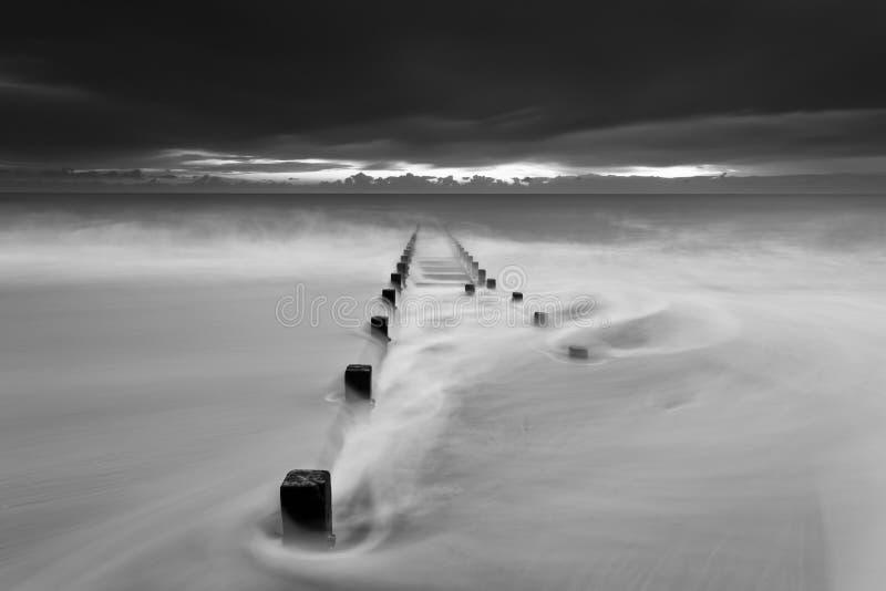 прилив шторма стоковые фото