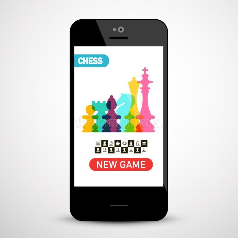 Приложение шахматов по телефону иллюстрация штока