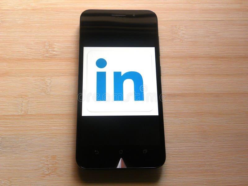 Приложение LinkedIn Lite стоковое фото