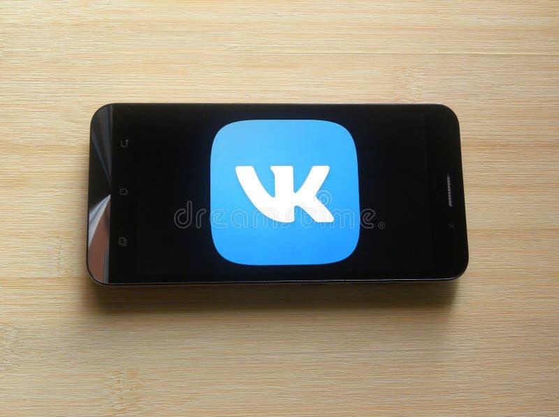 Приложение VKontakte стоковое фото