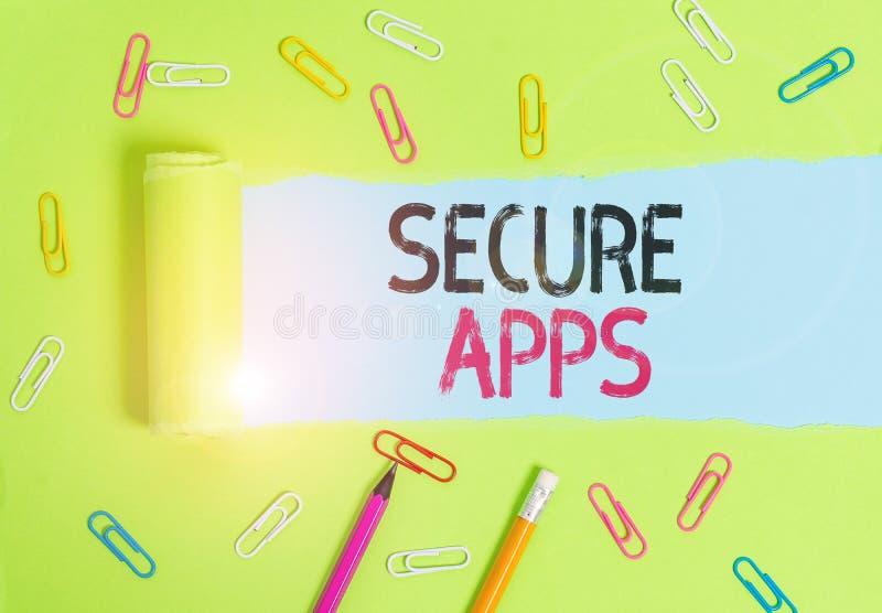 Приложения безопасности для записи текста Word Бизнес-концепция защиты устройства и его данных от несанкционированного доступа стоковые фото