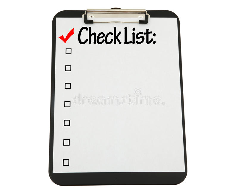 приложенный черный список clipboard проверки стоковые фотографии rf