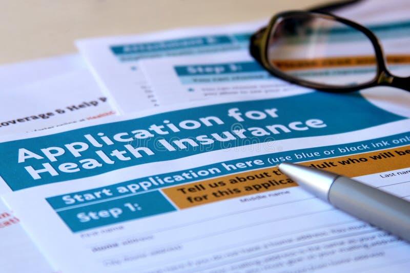 Применение медицинской страховки стоковая фотография rf