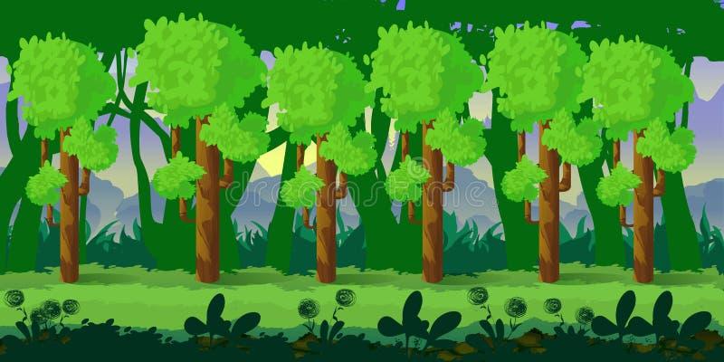 Применение предпосылки игры леса 2d вектор техника eps конструкции 10 предпосылок бесплатная иллюстрация