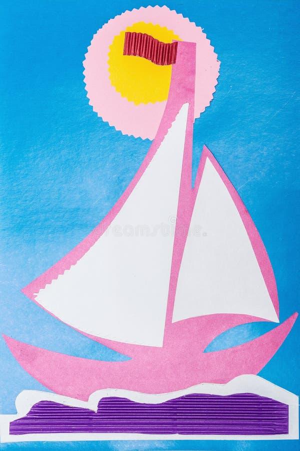 Применение ` s детей от гофрированной бумаги цвета бесплатная иллюстрация