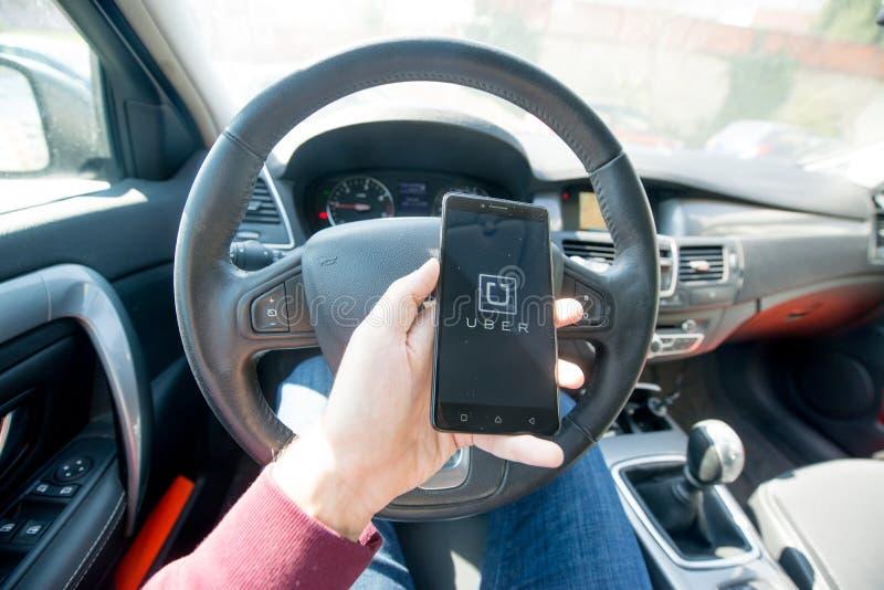 Применение Uber стоковое фото rf