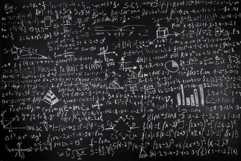 Примеры математики стоковая фотография rf