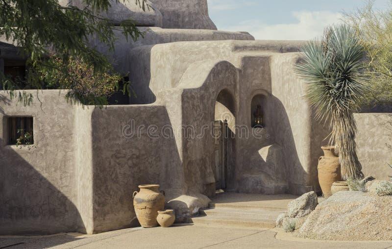 Пример современного стиля Adobe пустыни стоковые фото