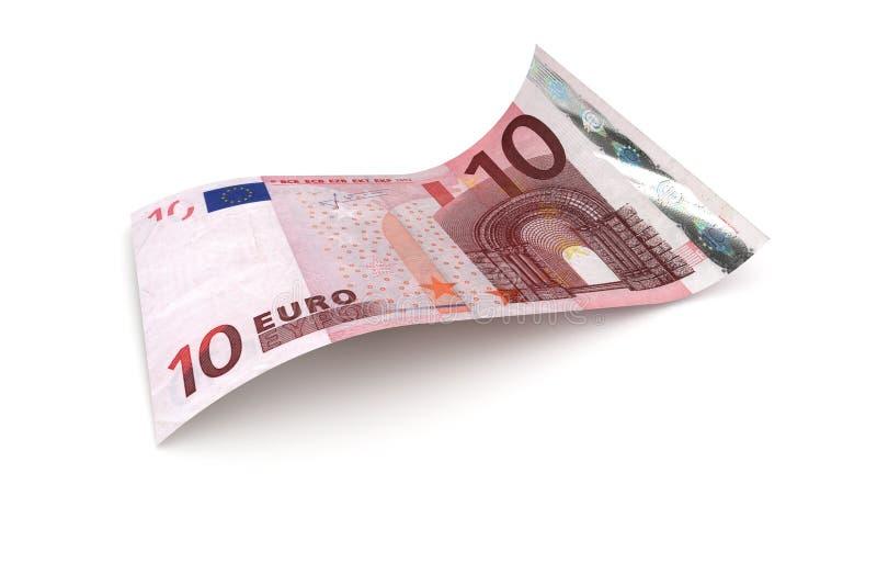 Примечание валюты Европейского союза евро 10 иллюстрация вектора