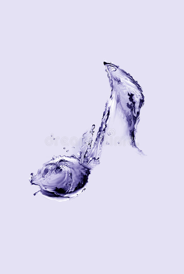 Примечание воды музыкальное стоковые фото