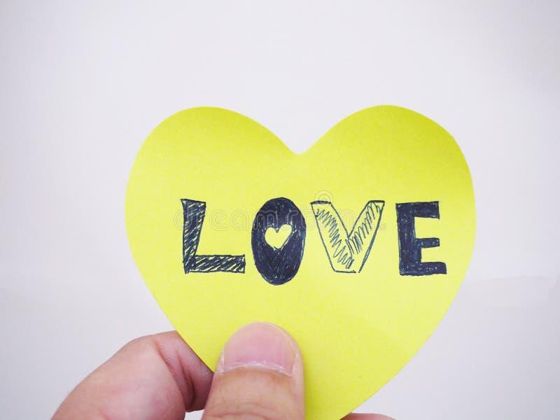 Примечание влюбленности стоковое фото rf