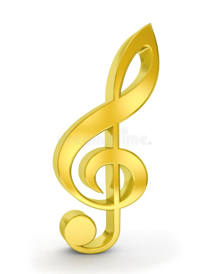Примечание музыки золота иллюстрация вектора