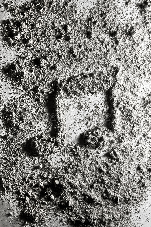 Download Примечание музыки сделанное из золы Стоковое Фото - изображение насчитывающей песок, текстура: 40578364