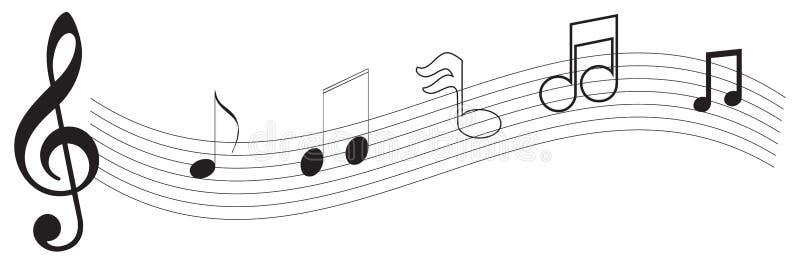 примечание нот иллюстрация вектора