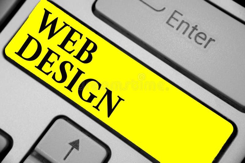 Примечание сочинительства показывая веб-дизайн Showcasing фото дела кто ответственно продукции и обслуживания клавиатуры y вебсай иллюстрация штока