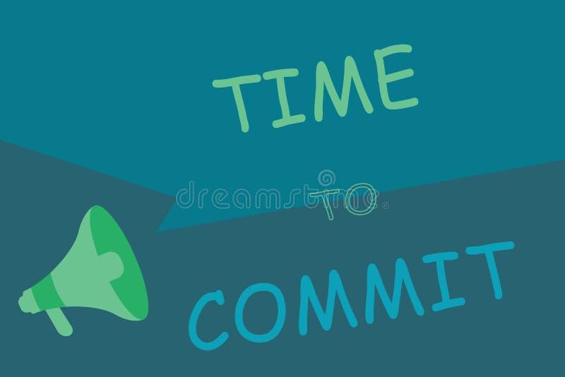 Примечание сочинительства показывая время совершить Захват или обязательство фото дела showcasing который ограничивают свободу де иллюстрация вектора