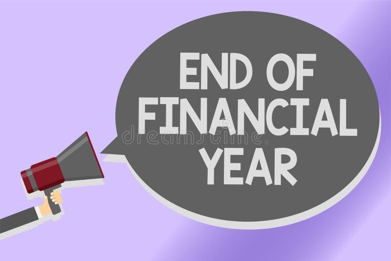 Примечание сочинительства показывая конец финансового года Проверка фото дела showcasing и редактирует листы бухгалтерии от звука бесплатная иллюстрация
