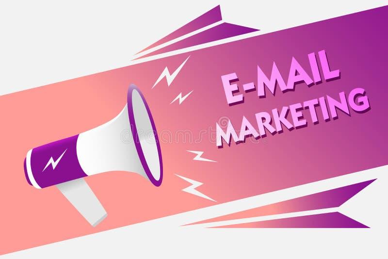 Примечание сочинительства показывая маркетинг электронной почты Электронная коммерция фото дела showcasing рекламируя онлайн звук бесплатная иллюстрация