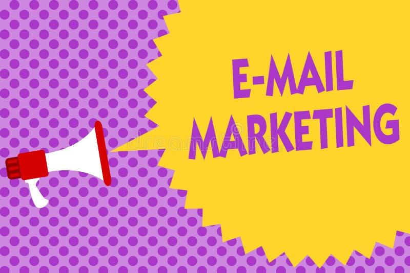 Примечание сочинительства показывая маркетинг электронной почты Электронная коммерция фото дела showcasing рекламируя онлайн прод иллюстрация вектора