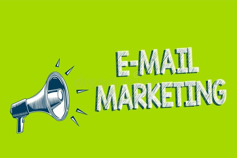 Примечание сочинительства показывая маркетинг электронной почты Электронная коммерция фото дела showcasing рекламируя онлайн худо иллюстрация штока