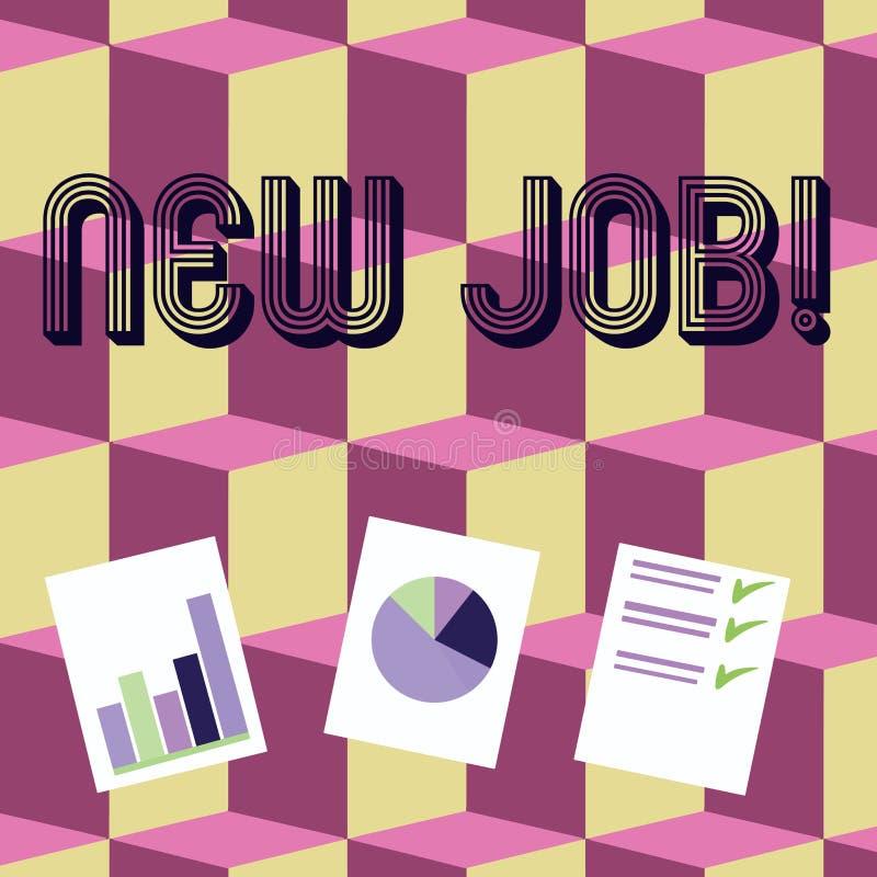 Примечание сочинительства показывая новую работу Фото дела showcasing недавно оплачивать положению регулярную занятость со специф бесплатная иллюстрация