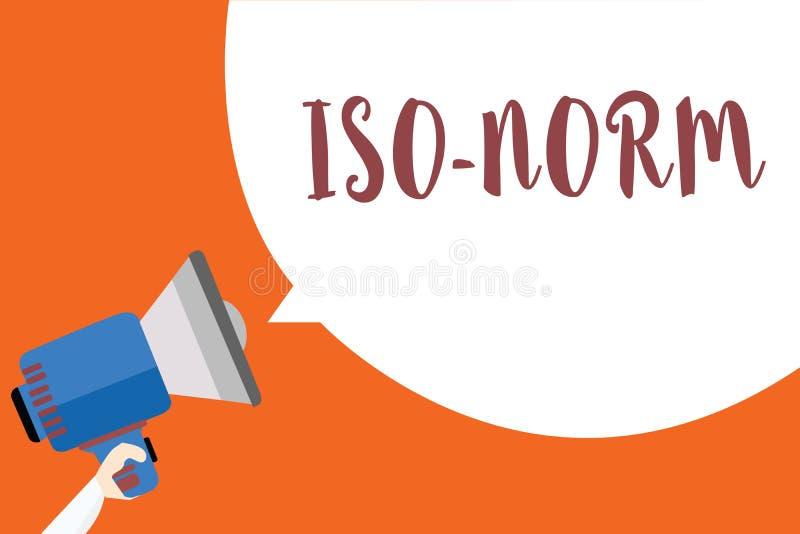 Примечание сочинительства показывая норму Iso Фото дела showcasing принятый стандарт или путь делать вещи большинство людей иллюстрация вектора