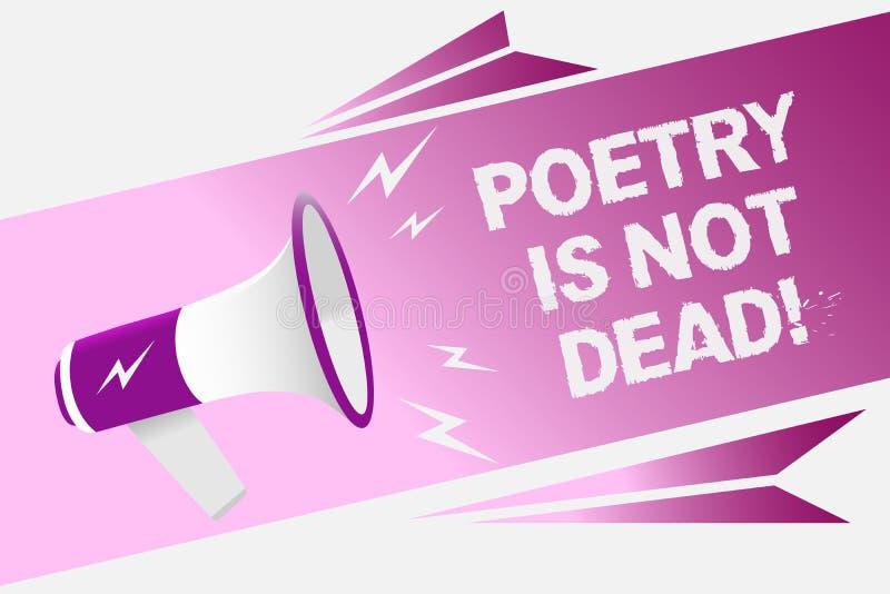 Примечание сочинительства показывая поэзию не мертво Фото дела showcasing астетическое и звукомерное сочинительство все еще живой иллюстрация штока