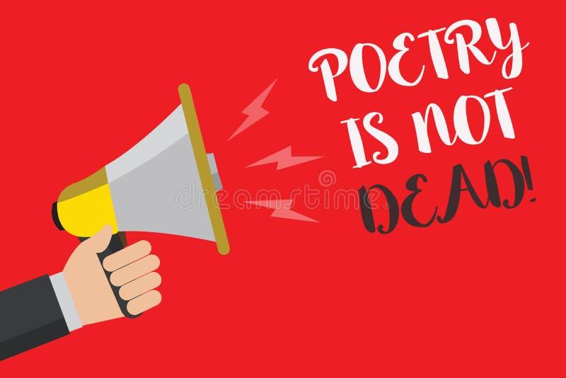 Примечание сочинительства показывая поэзию не мертво Фото дела showcasing астетическое и звукомерное сочинительство все еще живая иллюстрация штока