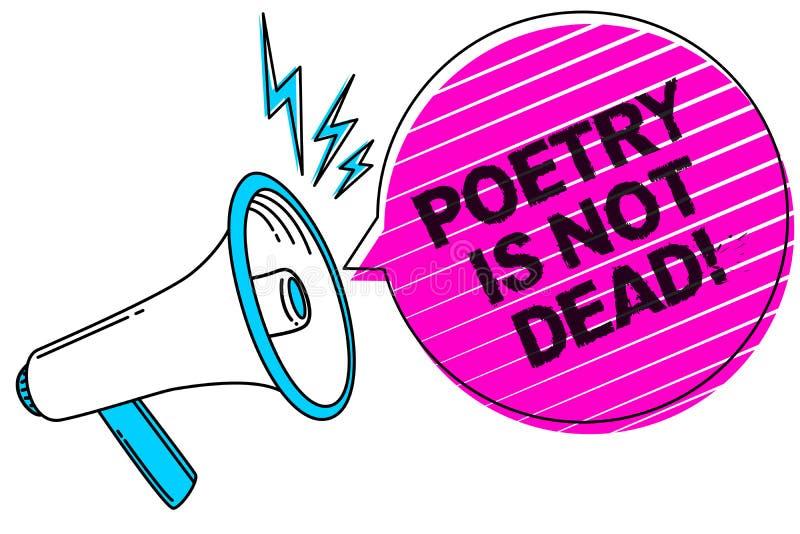 Примечание сочинительства показывая поэзию не мертво Фото дела showcasing астетическое и звукомерное сочинительство все еще живой иллюстрация вектора
