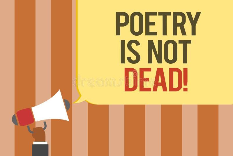 Примечание сочинительства показывая поэзию не мертво Фото дела showcasing астетическое и звукомерное сочинительство все еще живое бесплатная иллюстрация