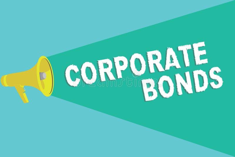 Примечание сочинительства показывая промышленные облигации Корпорация фото дела showcasing для того чтобы поднять финансирование  иллюстрация вектора