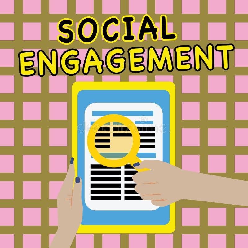 Примечание сочинительства показывая социальное взаимодействие Степень фото дела showcasing захвата в интернет-сообществе или обще стоковые изображения