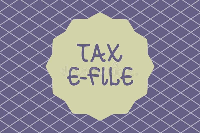 Примечание сочинительства показывая файл налога e Система фото дела showcasing представляя документы налога к государственному до иллюстрация вектора