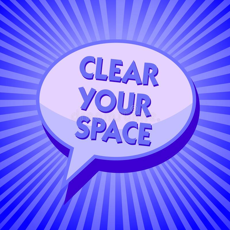 Примечание сочинительства показывая ясно ваш космос Фото дела showcasing чистый район студии офиса делает его пустой освежить рео иллюстрация вектора