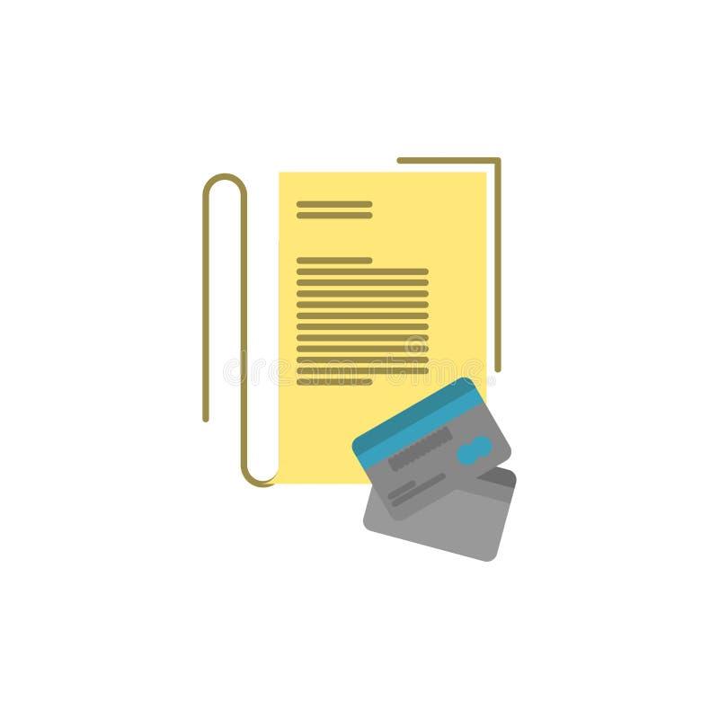 Примечание, тетрадь, карты, кредит, плоский значок цвета Шаблон знамени значка вектора бесплатная иллюстрация