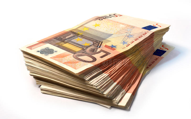 50 примечаний евро стоковые фото