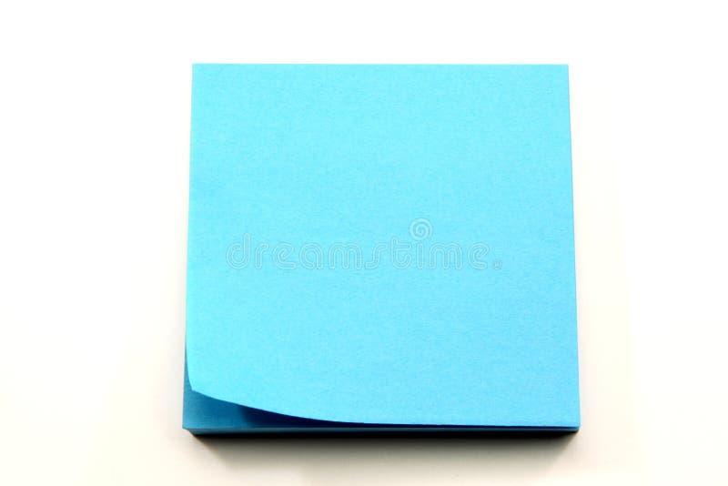 примечания голубого угла aqua завивая липкие стоковое фото rf