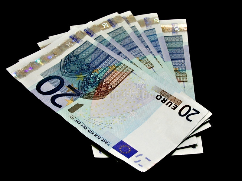 примечания евро банка стоковая фотография