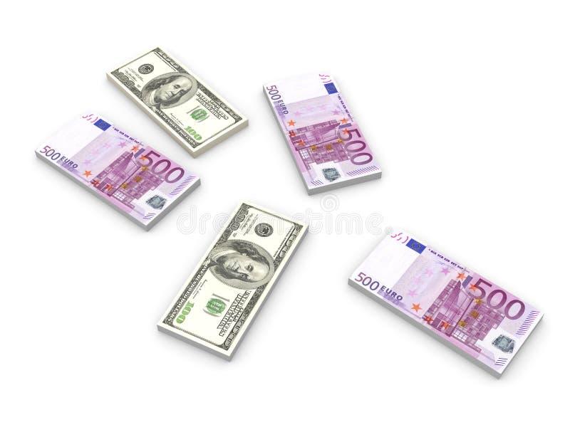 примечания евро доллара бесплатная иллюстрация