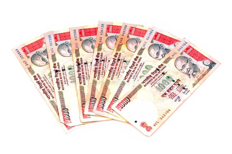 примечания индейца валюты стоковое фото rf