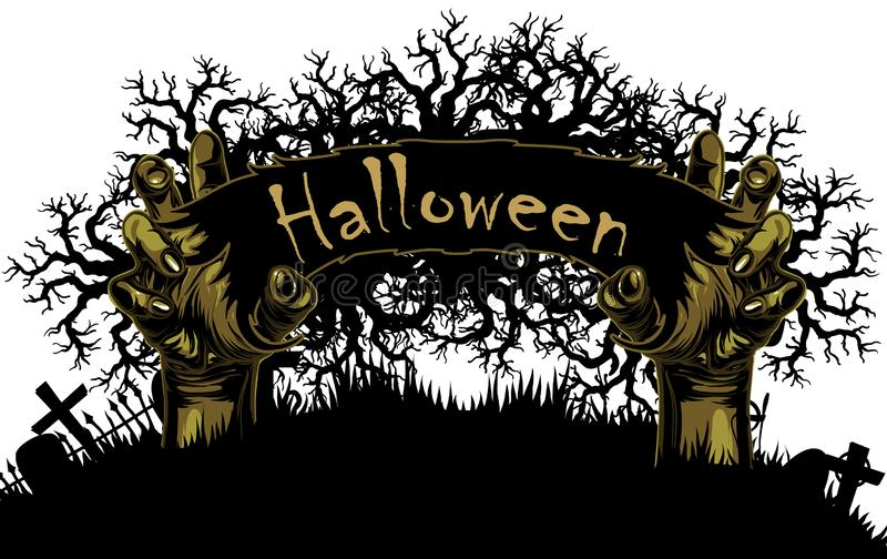 примечания лунного света halloween летучей мыши предпосылки иллюстрация штока
